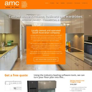 AMC Adelaide made cabinets - Website Design & Development - Derek Armsden Design