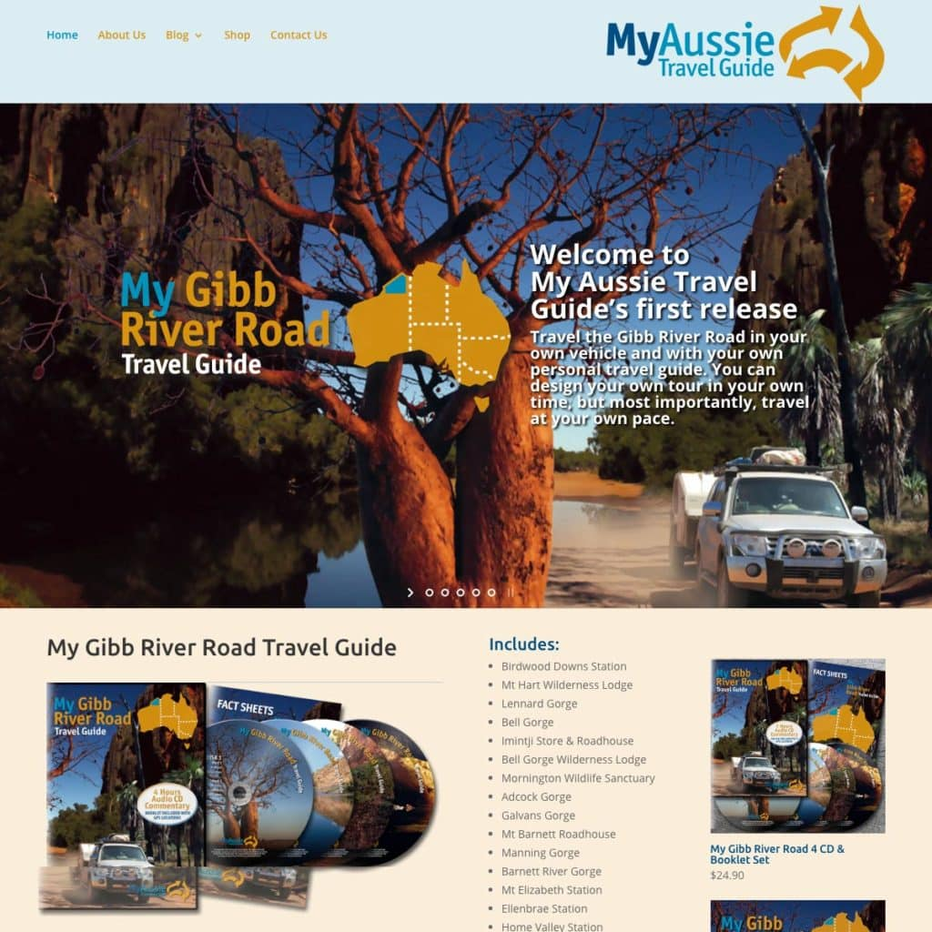 My Aussie Travel Guide - Website Design & Development - Derek Armsden Design
