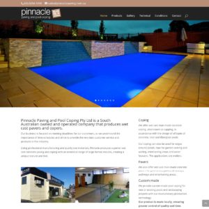 Pinnacle Paving & Pool Coping - Website Design & Development - Derek Armsden Design