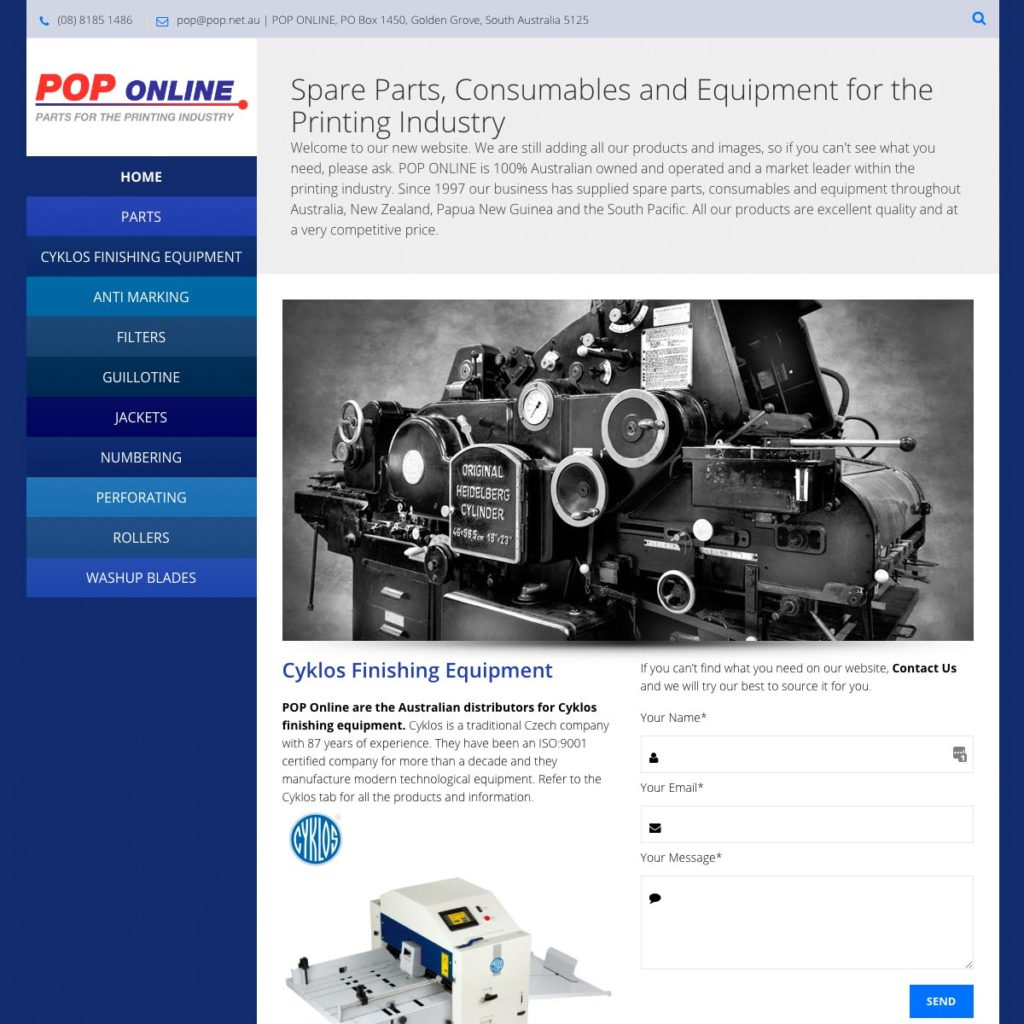 POP Online - Website Design & Development - Derek Armsden Design