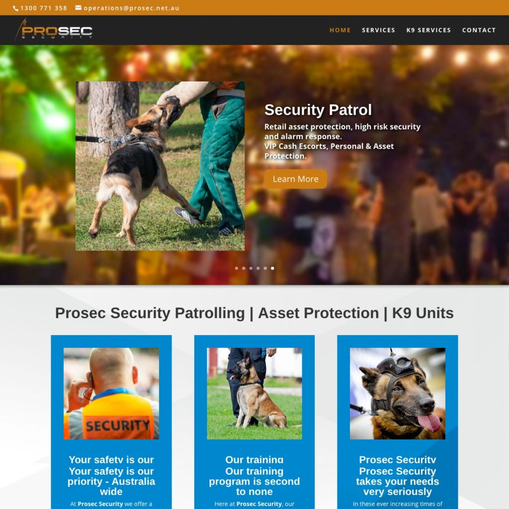Prosec Security - Website Design & Development - Derek Armsden Design