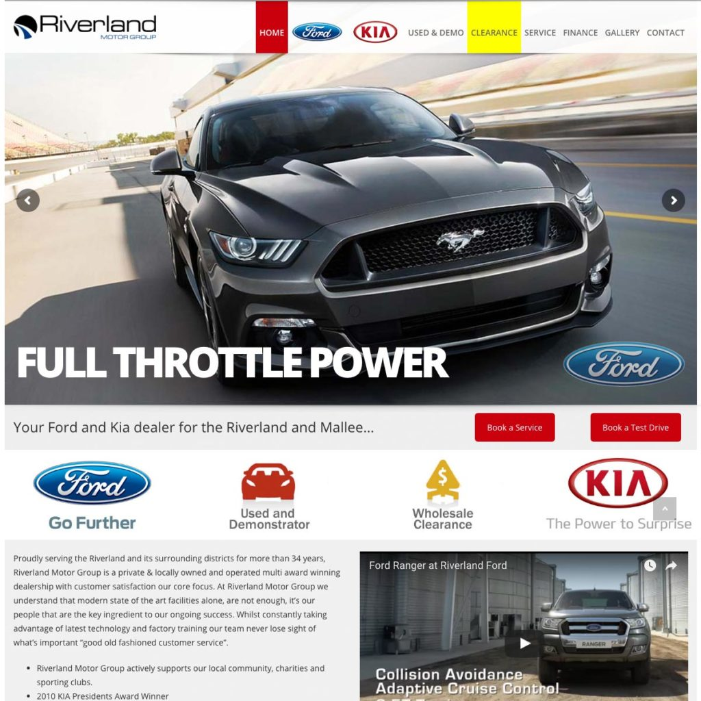 Riverland Motor Group - Website Design & Development - Derek Armsden Design