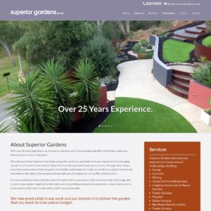 Superior Gardens - Website Design & Development - Derek Armsden Design