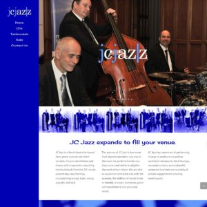 JC Jazz - Website Design & Development - Derek Armsden Design